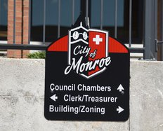 Monroe City Hall Sign