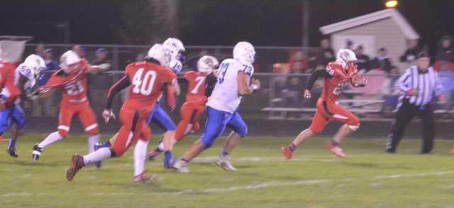 Preston Baker runs to end zone
