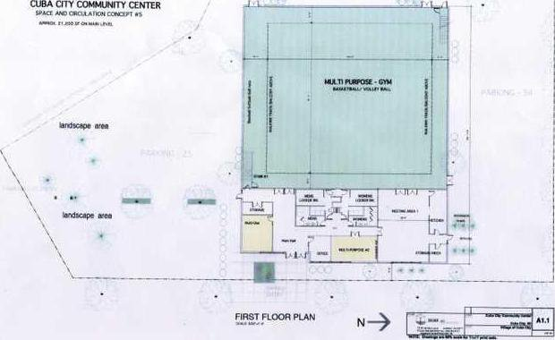 Community Center Floor Plan a