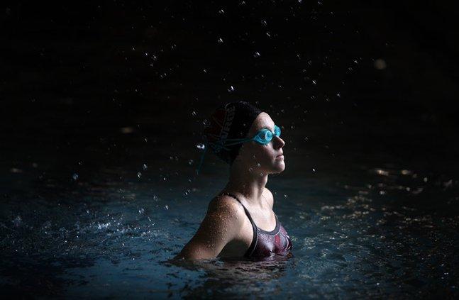 swimmer swim stock swimming
