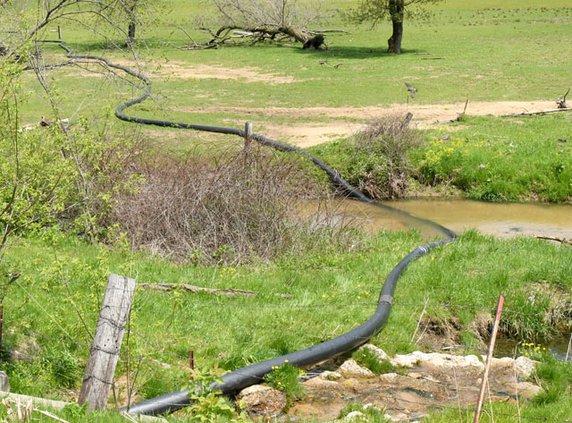 hose in creek
