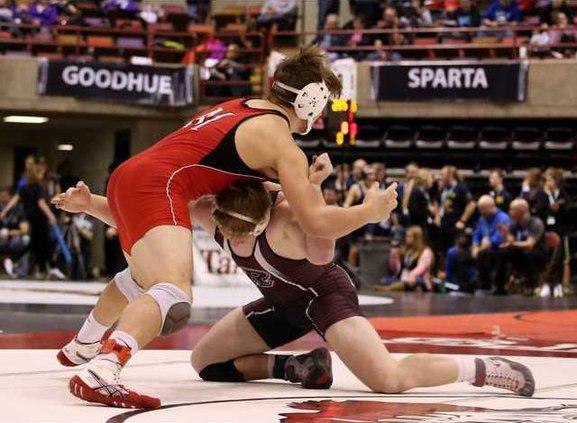 RHS wrestling Caleb Johnson