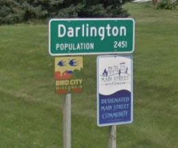 darlington sign stock
