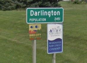 darlington sign stock