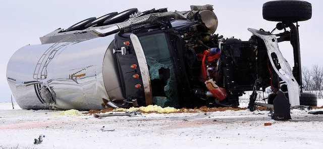 61 semi crash