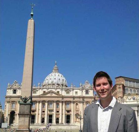 Nathan A. Popp in Vatican City Summer 2013