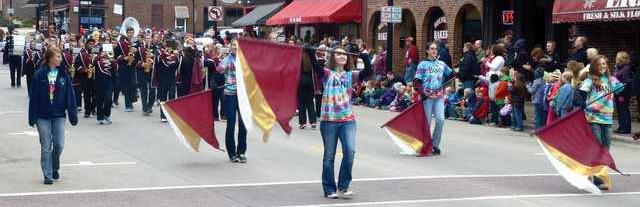 PHS band in HC parade