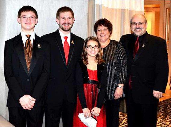Uehling Family at Grammy Awards 2012 c