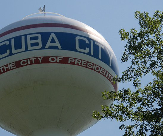 Cuba City water tower