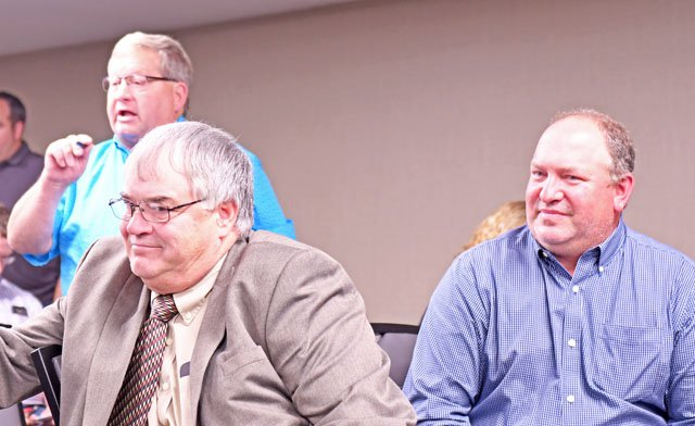 Farmers at ATCP51 hearing