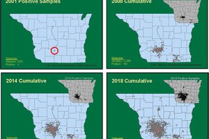 Spread of CWD in Driftless