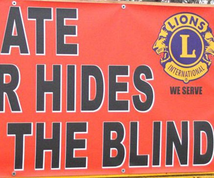 Donate hides to Lions Club