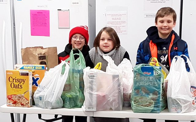 St Pats CCD donates to food pantry